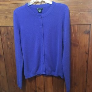 C By Bloomingdales Cobalt Blue Cashmere Sweater